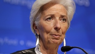 IMF chief Christine Lagarde is expected to deliver Osborne a sharp warning at the Treasury later.