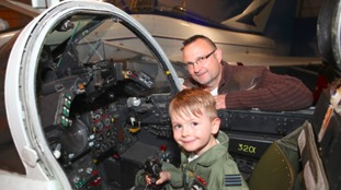 Visitors can climb on board a selection of historic aircrafts this weekend