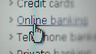 Screengrab of online banking