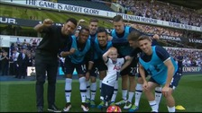 Marshall pictured with the Tottenham Hotspur team