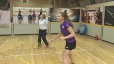 Lauren training in Cumbria.