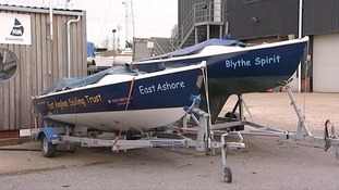 Boats belonging to the East Anglian Sailing Trust.