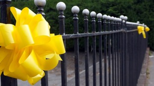 Yellow ribbons in Burntwod to remember Stephen