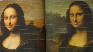 Two versions of the Mona Lisa