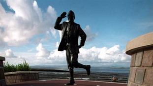 Statue of Eric Morecambe on the Promenade