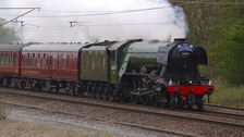 The Scotsman as it passed through North Yorkshire on Tuesday