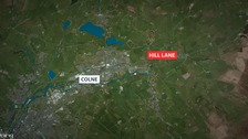 A man suffered major head injuries after colliding with another bicycle on Hill Lane, Colne.