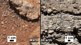 The rocks on Mars are being compared with those found on Earth