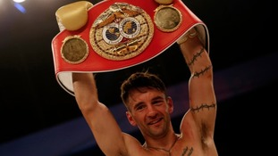 Bristol's Lee Haskins beat Mexican Ivan Morales to retain the title
