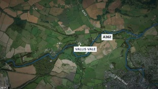 The illegal rave took place in Vallis Vale on the outskirts of Frome