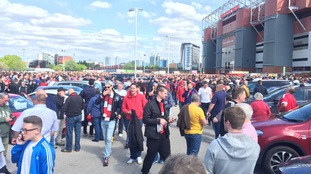 Fans were evacuated from the stadium after a 'code red' announcement.