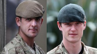 Acting Corporal Sean Jones and Rifleman Matthew Wilson.