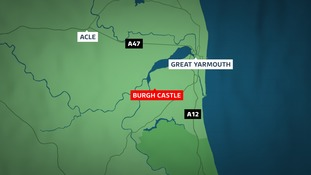 The incident happened at Burgh Castle near Great Yarmouth.