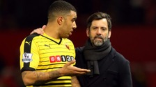 Troy Deeney and Quique Sanchez Flores