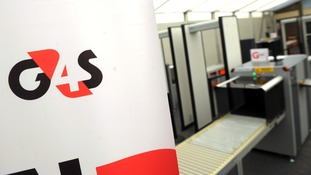 General view of G4S branding and x-ray machines.