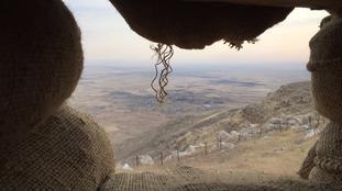 The Peshmerga frontline outside Mosul.