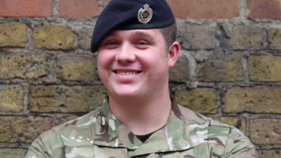 Sapper Matthew Garey has been honoured for bravery.