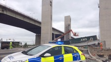 'Major structural collapse' at new bridge next to Barton