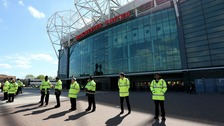 Old Trafford was evacuated after the security scare