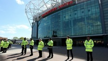 Old Trafford was evacuated