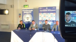 Peterborough United reveal their new manager at a press conference today.
