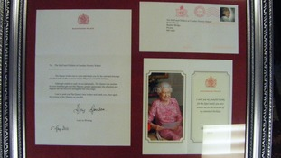 Nursery children receive letter from the Queen