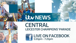 We are live on Facebook now for continuing coverage of the Leicester City champion's parade