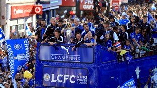 Leicester City victory parade: More than 240,000 fans turn out to celebrate club's Premier League triumph