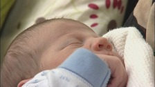 Baby born at Maidstone Birthing Unit