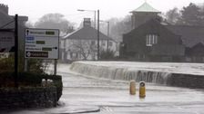 Keswick's River Greta bursts its banks