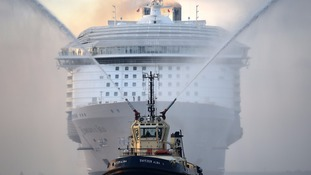 The world's largest cruise ship arriving in Southampton