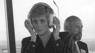 Diana, Princess of Wales at air traffic control among historic images released of Gatwick Airport