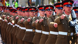 Soldiers from the Duke of Lancaster's Regiment