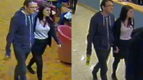 Sussex Police released these CCTV images of the pair on board the ferry to Calais