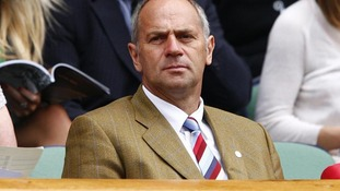 Sir Steve Redgrave in the royal box at the 2011 Wimbledon Championships