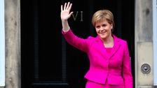 Nicola Sturgeon has been re-elected First Minister