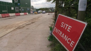 Police are carrying out investigations at a construction site in Sharnbrook