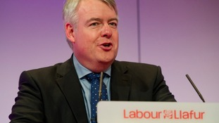 Carwyn Jones speaking to last year's Labour conference