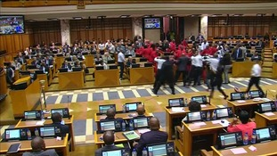 Fight breaks out in South African parliament