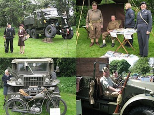 There'll be displays of 1940s vehicles, Austin Ten cars, model planes