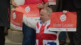 The launch of the Vote Leave campaign in Peterborough.