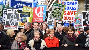 Opposition to Trident has been led by SNP and the Green Party along with the leadership of the Labour Party despite internal division.