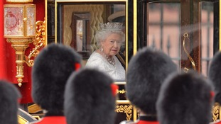 The Queen left Buckingham Palace to deliver her annual speech detailing the Government's planned agenda following the State Opening of Parliament.