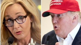Composite image of JK Rowling and Donald Trump