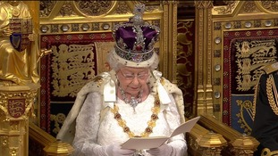 The Queen read the speech to a packed Lords.