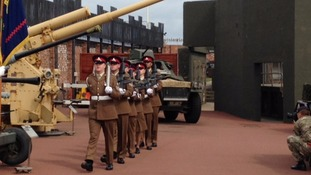 Parade in Hartlepool to mark artillery's tercentenary