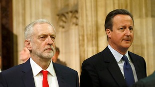 Labour leader Jeremy Corbyn will later offer his response to David Cameron's policy agenda in the House of Commons after the pair heard the Queen's Speech in the Lords.