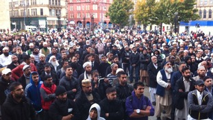 In Pictures: Bradford anti-Muslim video demonstration