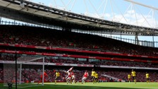 Arsenal v Aston Villa match on Sunday