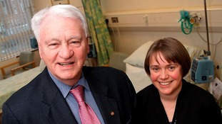 Sir Bobby and Prof Ruth Plummer